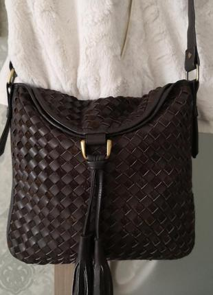 Мега стильная кожаная сумочка east