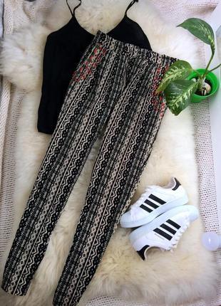 Удобные лёгкие штаны брюки в орнамент vero moda