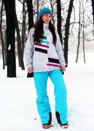Красивый лыжный термо зимний костюм куртка и штаны