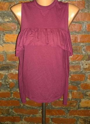 Блуза кофточка с вырезами на плечах и воланом на лифе atmosphere