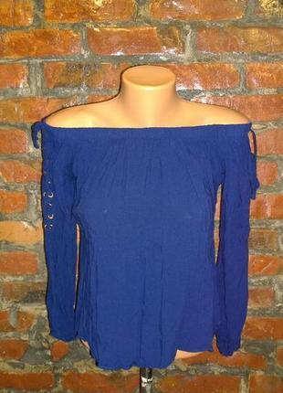 Блуза кофточка со шнуровкой на плечи select