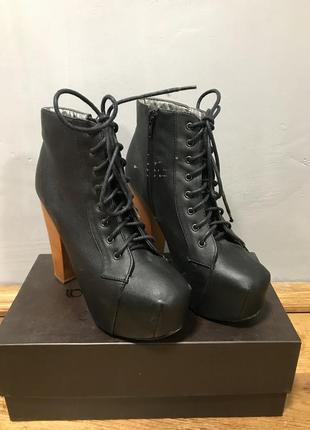 Ботильоны черные ботинки ботильйони со шнуровкой тренд хит