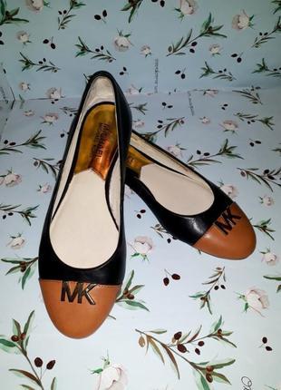 Модные балетки туфли из натуральной кожи michael kors, 37 размер