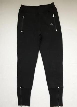 Крутые трикотажные спортивные брюки низ манжеты с замочками decathlon