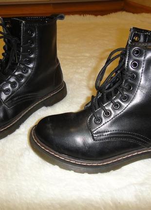 Кожаные, стильные утепленные качественные ботинки acesc р. 35-36 стелька 23 см1