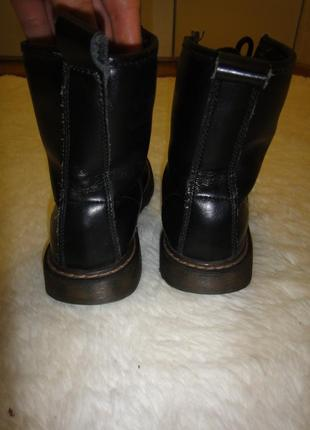 Кожаные, стильные утепленные качественные ботинки acesc р. 35-36 стелька 23 см4