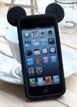 Чехол для apple iphone 5 ободок с ушками микки маус черный