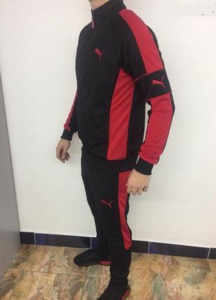 Костюм спортивный мужской pm 8997-106 черный с красным