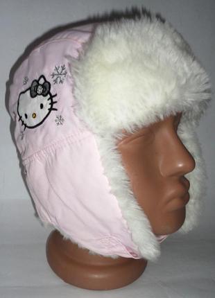 2 шт есть еврозима демисезонная шапка 6-8 лет h&m hello kitty