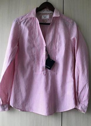 Блуза-рубашка massimo dutti, m, лен, хлопок