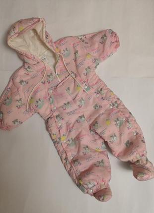 Демисезонный комбинезон chicco на девочку 12 месяцев, рост 74 см
