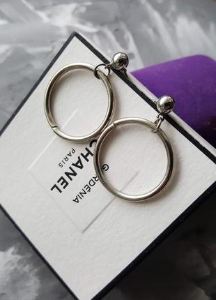 Серьги круглые кольца гвоздики минимализм