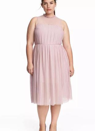 Неимоверно красивое платье плиссе h&m с фатином