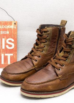 Ботинки осень весна  am  верх кожа размер 44 стелька 28 см состояние отличное