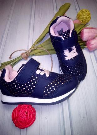 Легкие кроссовки с золотыми крапинками, лентяйки, h&m, 15 см1