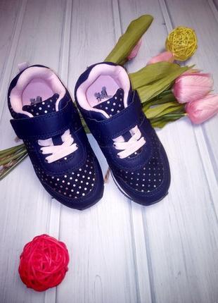 Легкие кроссовки с золотыми крапинками, лентяйки, h&m, 15 см2