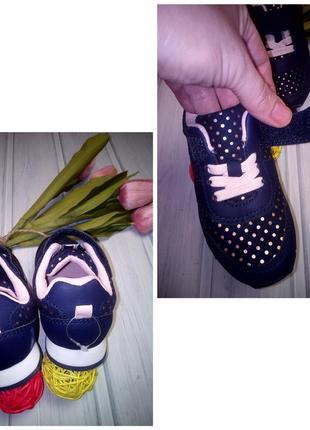 Легкие кроссовки с золотыми крапинками, лентяйки, h&m, 15 см3