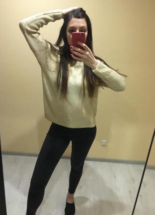 Шикарный свитер золото oggi