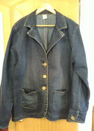 Джинсовый пиджак размер 54