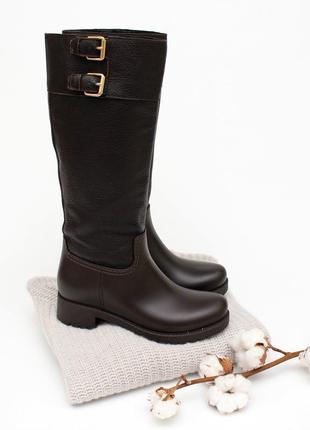 Високі шкіряні чоботи menghi італія дорогий бренд 23 см