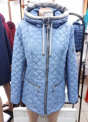 Куртка женская на весну осень утепленная классика демисезонная
