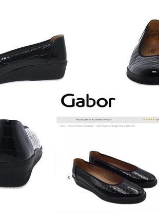 3523 туфлі gabor g7/ 40-39,5 шкіра нові сток2 фото