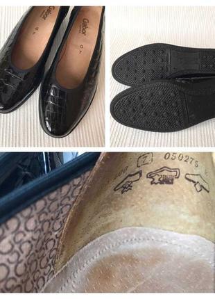 3523 туфлі gabor g7/ 40-39,5 шкіра нові сток5 фото