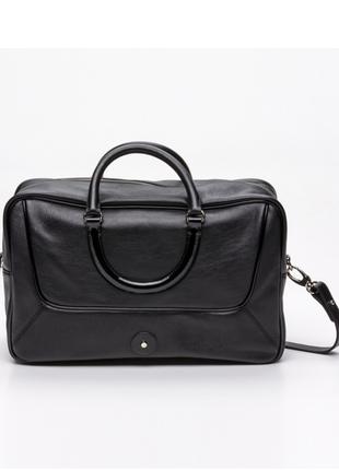 Новая. 100% кожа. оригинал. вместительная сумка lamarthe, paris. чёрная, есть нюд