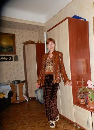 Пиджак кожаный ажурный