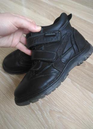 Ботинки демисезонные кожаные 34р.
