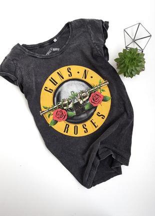 Графитовая футболка guns n roses