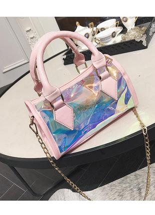 💣женский  прозрачный клатч сумка 2в1  стильный  через плечо  цепочка