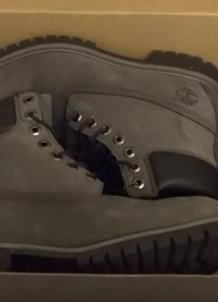 Серые зимние ботинки с натуральным мехом5