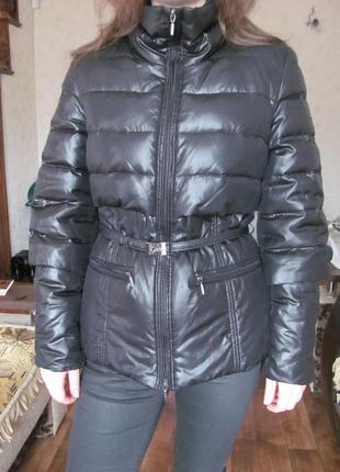 Geox. куртка пуховик. черная. с пелериной. зимняя.