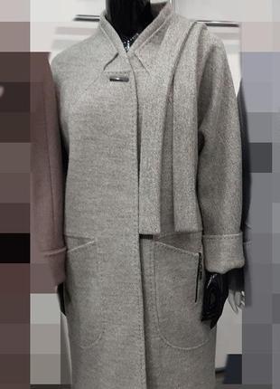 Пальто с поясом ,оч стильное и качественное .42-56.цвета .