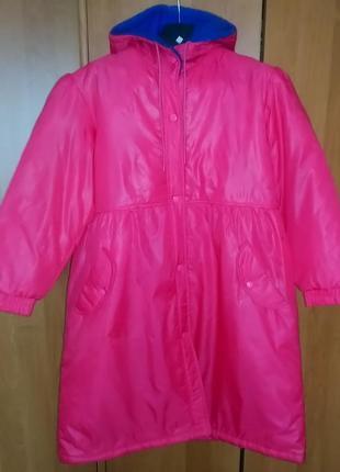 Демисезонное утепленное пальто для девочки (новое), японская фирма chori