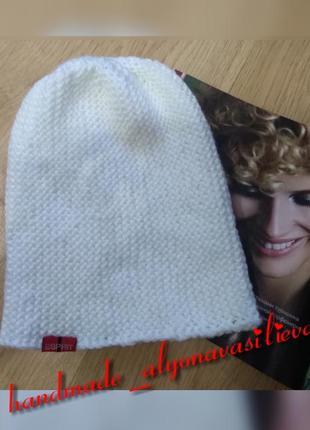 Модная белая шапка, стильная шапочка бесплатная доставка укрпочтой к праздникам!