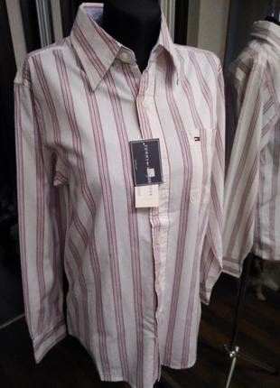 Рубашка прямого кроя в полосатый принт