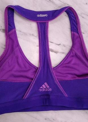 Фиолетовый спортивный топ adizero adidas xs-s