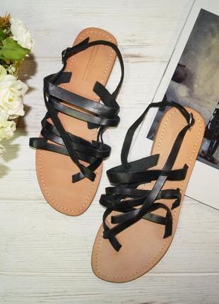 Esprit! кожа! стильные гладиаторы, сандалии, босоножки