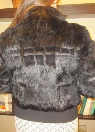 Шуба -шубка-куртка полушубок кролик