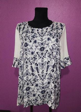 Шикарная блузка в принт, от бренда next.