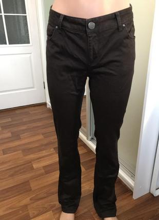 Коричневые брюки джинсы штаны1 фото