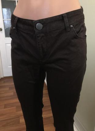 Коричневые брюки джинсы штаны4 фото