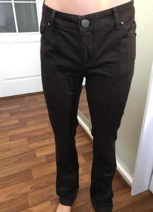 Коричневые брюки джинсы штаны2 фото