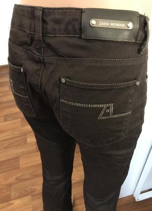 Коричневые брюки джинсы штаны5 фото