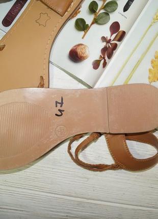 Kiabi! кожа! фирменные босоножки, сандалии на низком ходу4