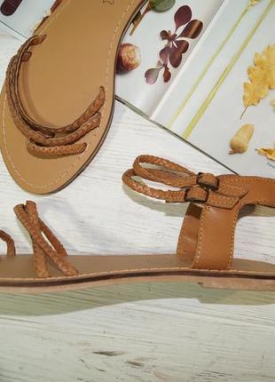 Kiabi! кожа! фирменные босоножки, сандалии на низком ходу3