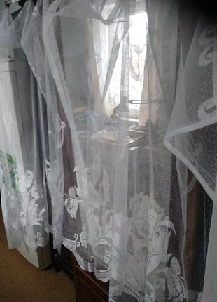 Продам занавеску гардину на кухонное окно 300/170 новая