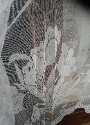 Продам занавеску гардину на кухонное окно 300/170 новая2 фото